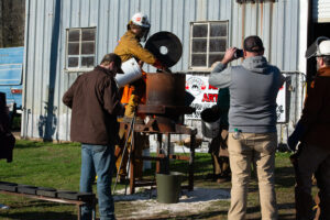 loading the furnace for iron pour in Eutaw, AL
